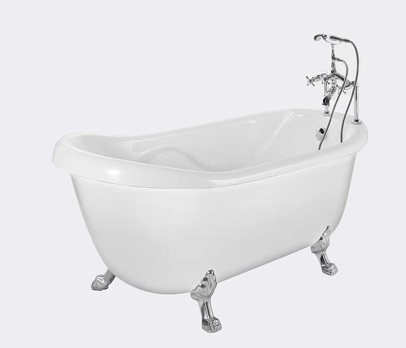 "Aston 67"" x 35"" Acrylic Claw Foot Slipper Tub 2"