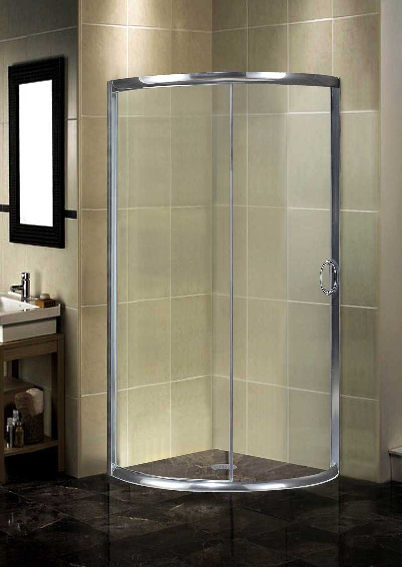 Aston Round Sliding Shower Door Enclosure