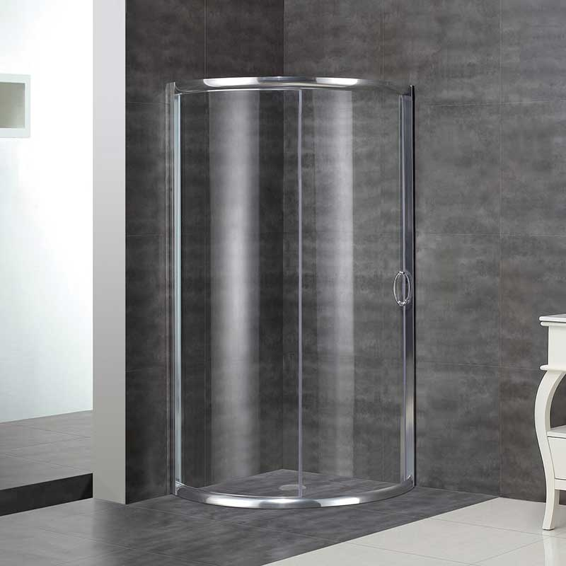 Aston Round Sliding Shower Door Enclosure 2