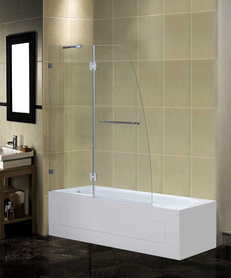 Aston Frameless Pivot Tub-Height Shower Door