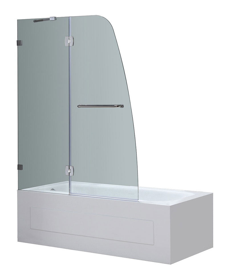 Aston Frameless Pivot Tub-Height Shower Door 2