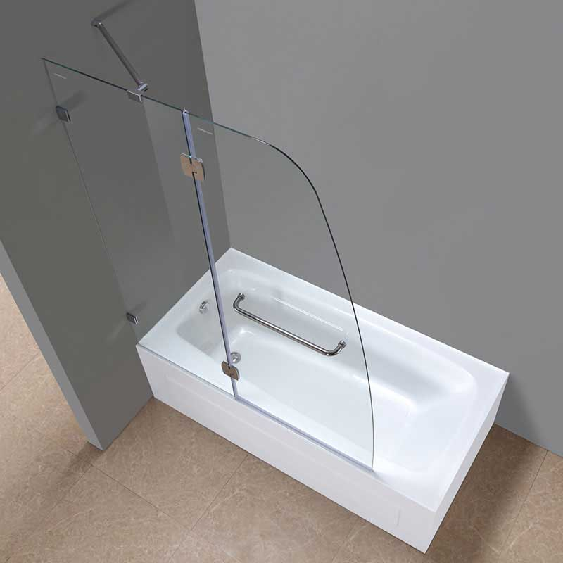 Aston Frameless Pivot Tub-Height Shower Door 7