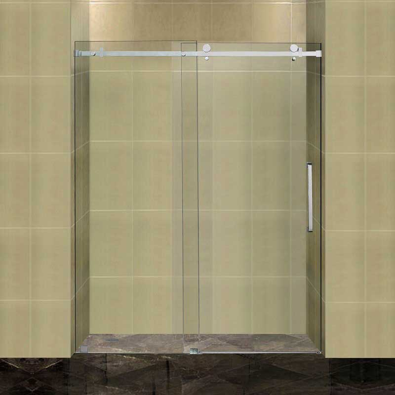 "Aston Completely Frameless 60"" W x 75"" H Sliding Shower Door"