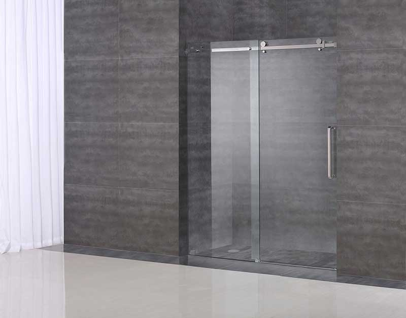 "Aston Completely Frameless 60"" W x 75"" H Sliding Shower Door 2"