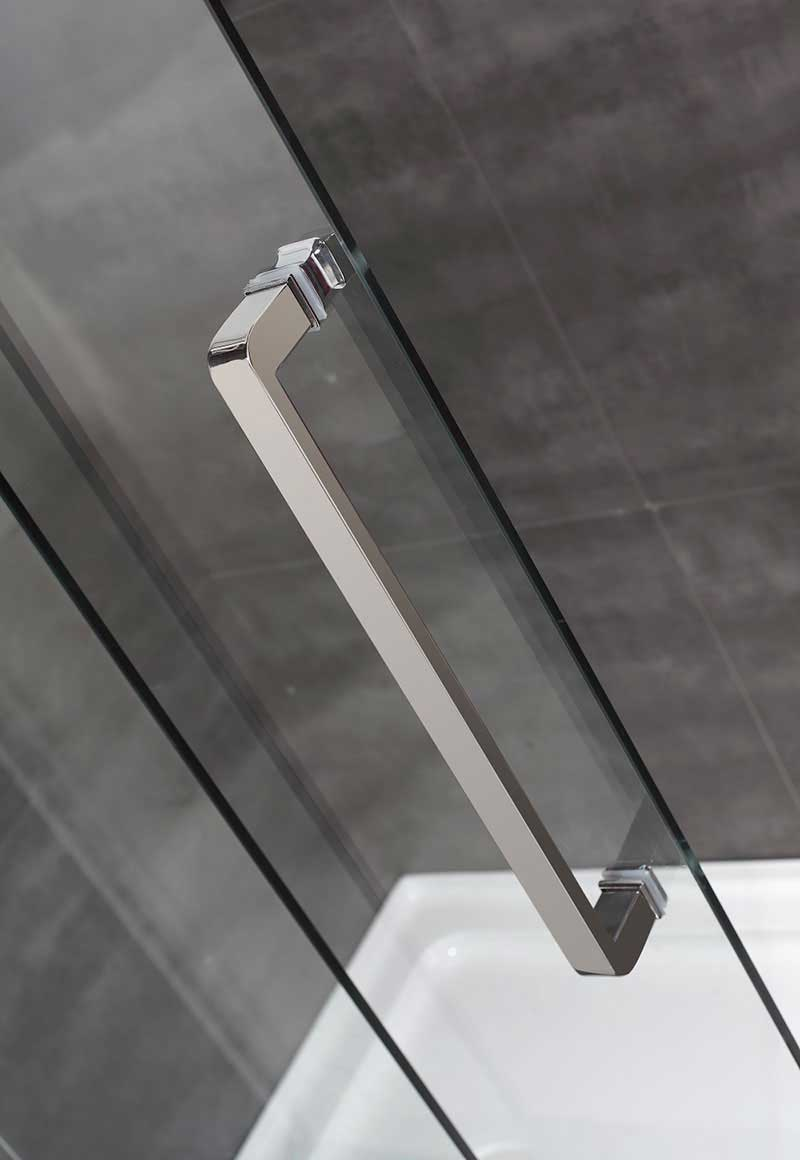 "Aston Completely Frameless 60"" W x 75"" H Sliding Shower Door 4"