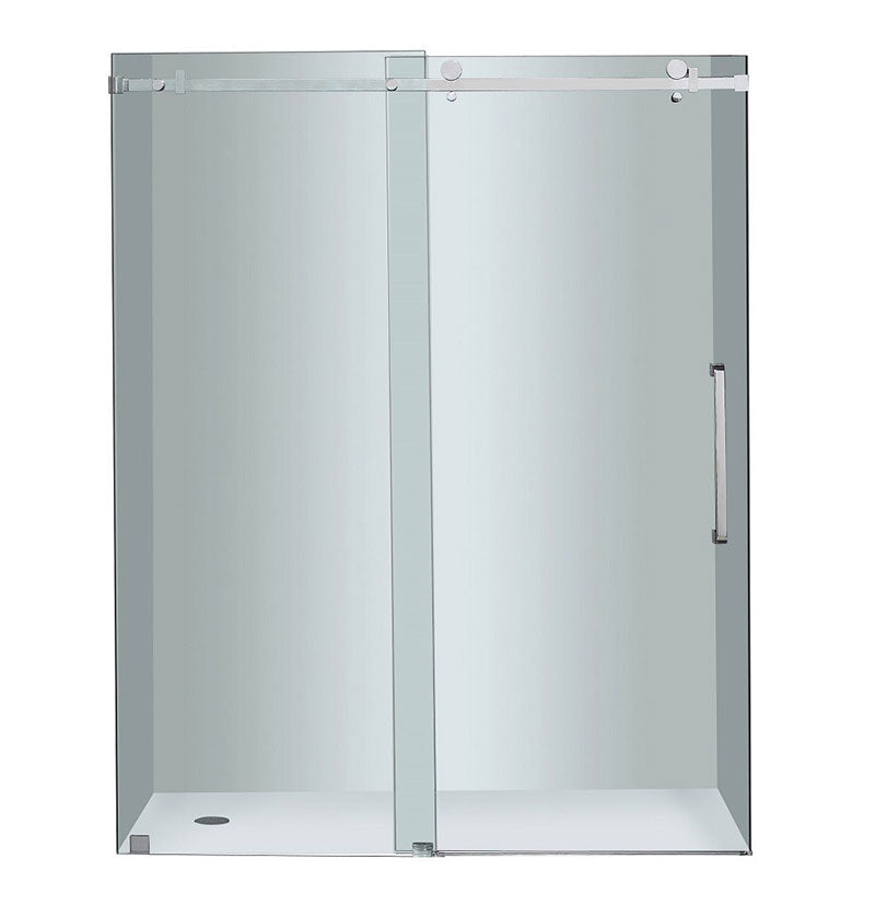 "Aston Completely Frameless 60"" W x 75"" H Sliding Shower Door 5"