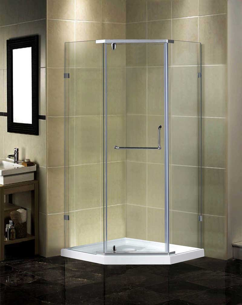 Aston Semi-Frameless Neo-Angle Shower Enclosure with Low-Profile Base