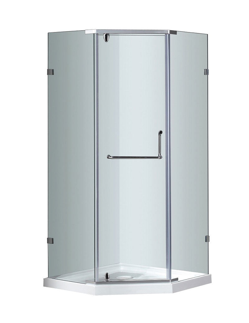 Aston Semi-Frameless Neo-Angle Shower Enclosure with Low-Profile Base 2