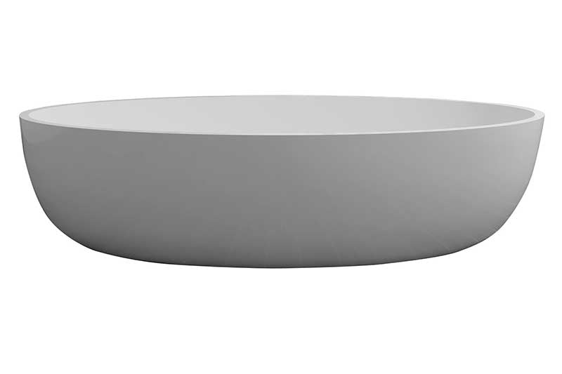"Control Brand True Solid Surface Zen 67"" x 31.5"" Soaking Bathtub"