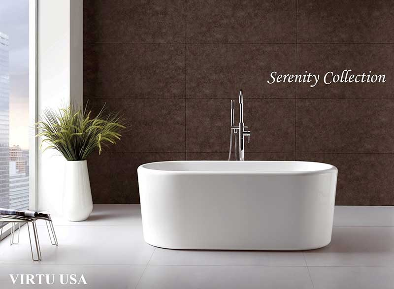 Virtu USA Serenity VTU-2267 67 x 27.5 Freestanding Soaking Tub