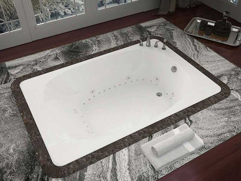 Venzi Grand Tour Aqui 48 x 78 Rectangular Air & Whirlpool Jetted Bathtub with Center Drain By Atlantis