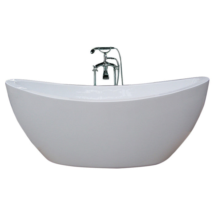 "Aquatica PureScape 75"" x 38"" Freestanding Acrylic Slipper Tub 2"