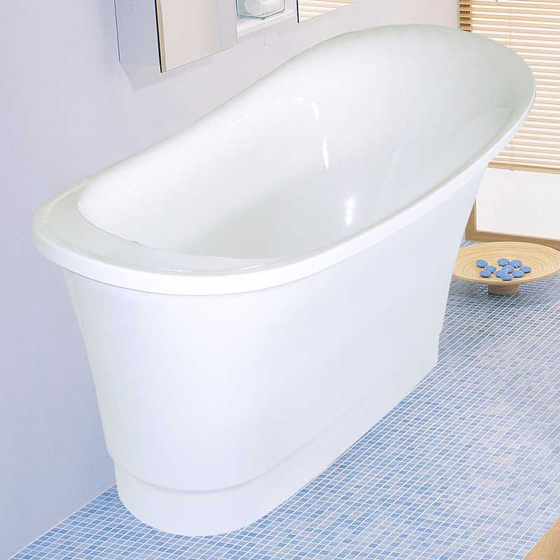 "Aquatica PureScape 63"" x 32"" Freestanding Acrylic Slipper Tub 3"