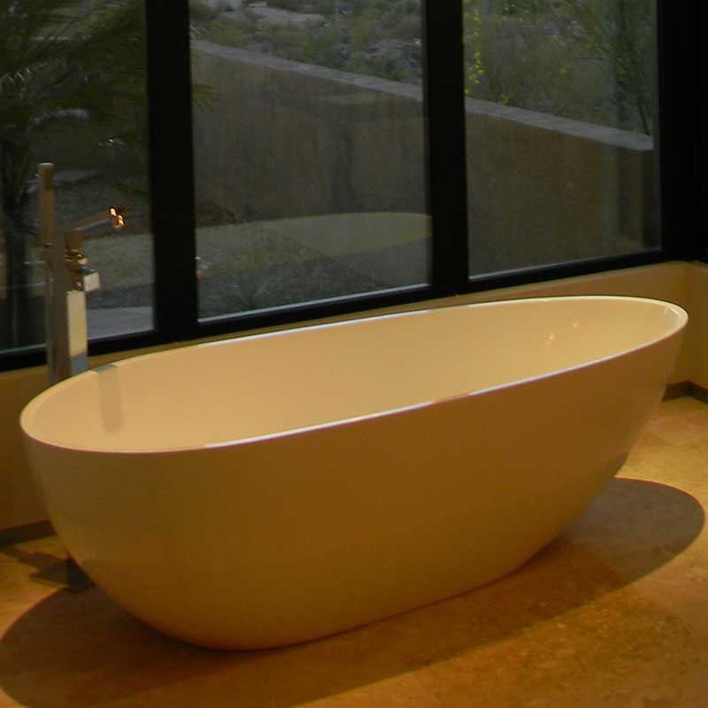 "Aquatica PureScape 73"" x 33"" Freestanding AquaStone Bathtub 2"