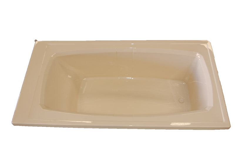 "American Acrylic 72"" x 36"" Soaker Rectangular Bathtub"