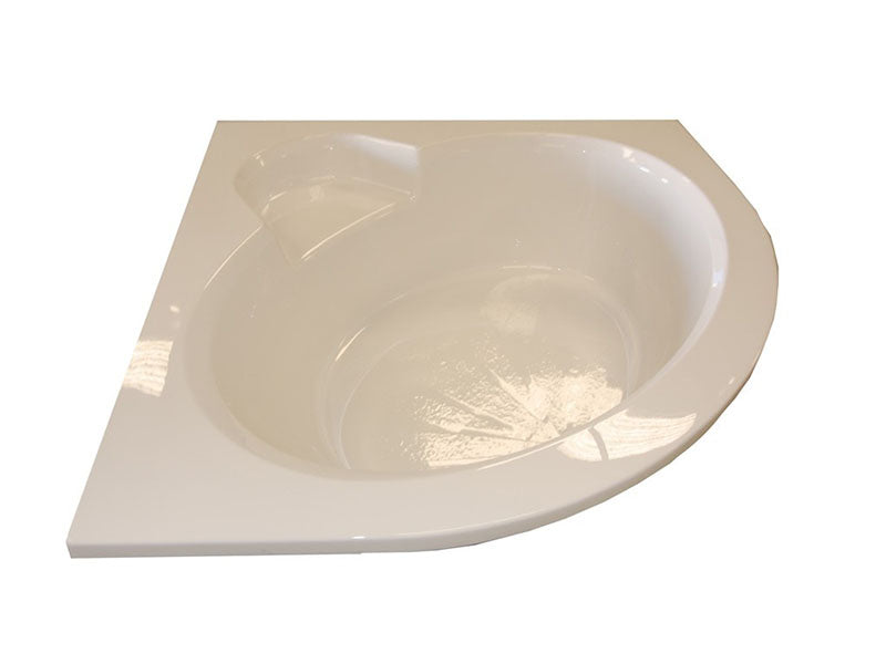"American Acrylic 60"" x 60"" Round Front Corner Whirlpool Tub"