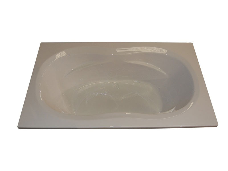 "American Acrylic 72"" x 42"" Soaker Arm-Rest Bathtub"