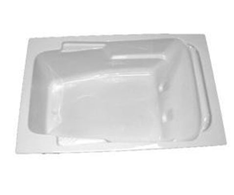 "American Acrylic 72"" x 48"" Arm-Rest Air Tub"