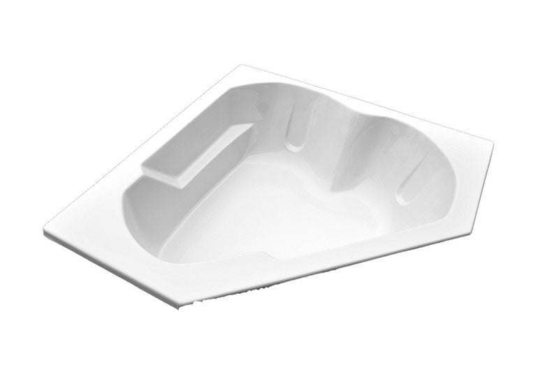"American Acrylic 60"" x 60"" Arm-Rest Corner Air Tub"