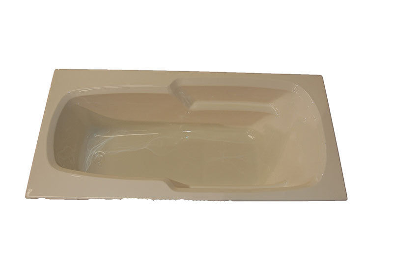 "American Acrylic 66"" x 32"" Arm-Rest Bathtub"