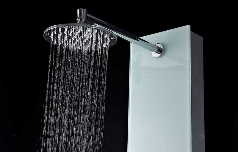 Anzzi MARE Series 60 in. Full Body Shower Panel System with Heavy Rain Shower and Spray Wand in White 8