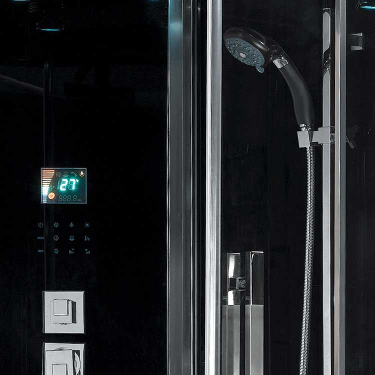 Ariel Bath Platinum Sliding Door Steam Shower with Tub 3