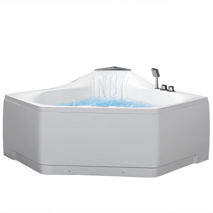 "Ariel Bath 59"" x 59"" Corner Whirlpool Tub with Waterfall Faucet 2"