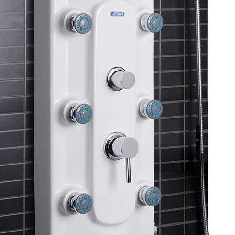 Ariel Bath Lucite Acrylic Thermostatic Shower Panel 3
