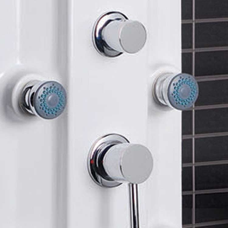Ariel Bath Lucite Acrylic Thermostatic Shower Panel 5