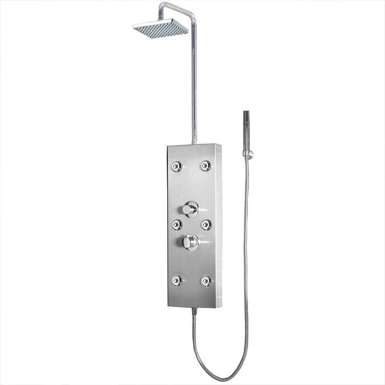 "Ariel Bath Stainless Steel 72"" Thermostatic Shower Panel"