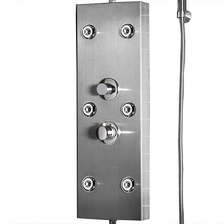 "Ariel Bath Stainless Steel 72"" Thermostatic Shower Panel 5"