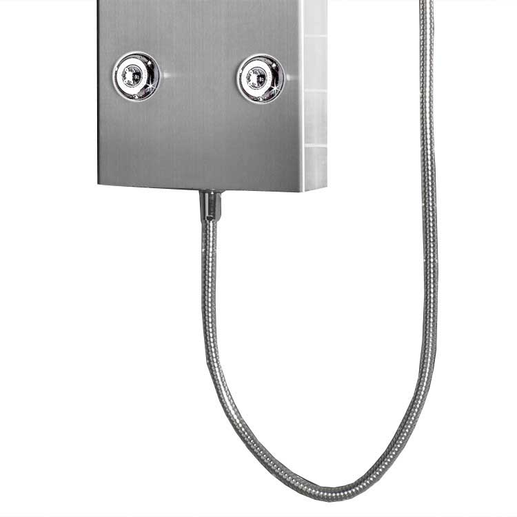 "Ariel Bath Stainless Steel 72"" Thermostatic Shower Panel 6"