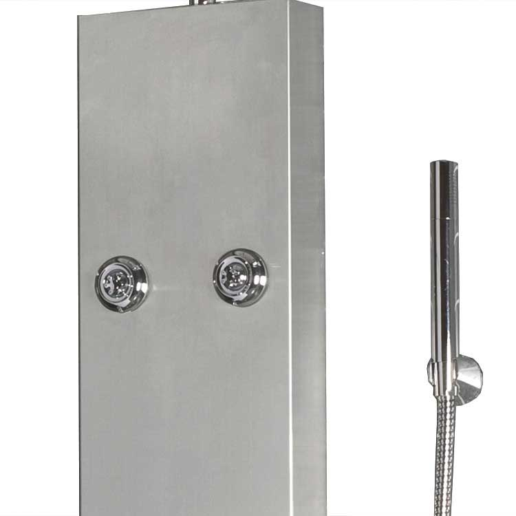 "Ariel Bath Stainless Steel 63.8"" Thermostatic Shower Panel 3"