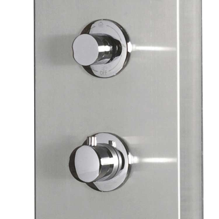 "Ariel Bath Stainless Steel 63.8"" Thermostatic Shower Panel 4"