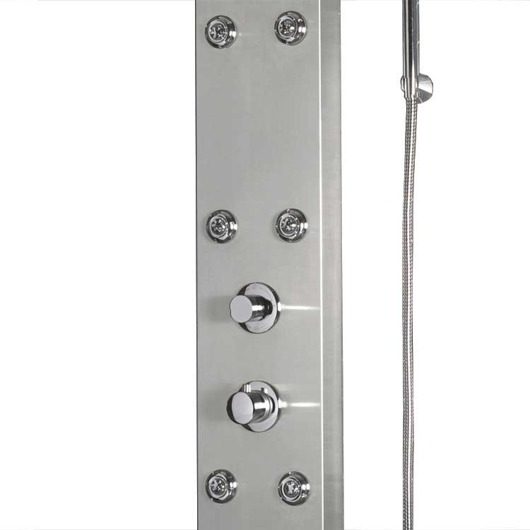 "Ariel Bath Stainless Steel 63.8"" Thermostatic Shower Panel 5"