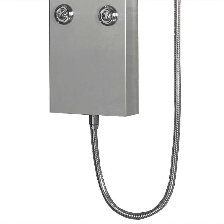 "Ariel Bath Stainless Steel 63.8"" Thermostatic Shower Panel 6"