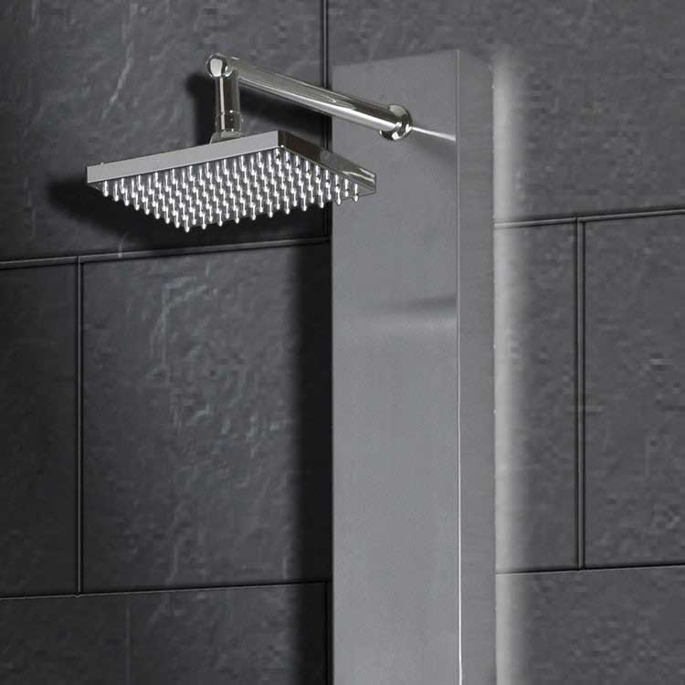 "Ariel Bath Stainless Steel 70"" Thermostatic Shower Panel 2"
