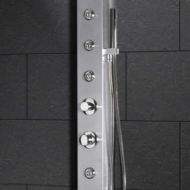 "Ariel Bath Stainless Steel 70"" Thermostatic Shower Panel 3"