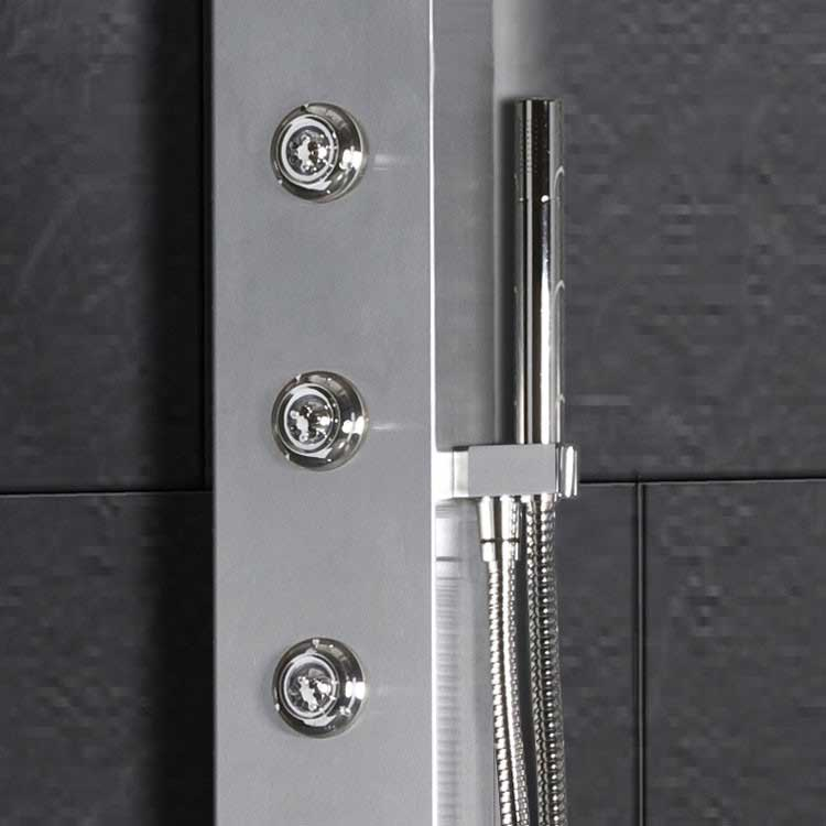 "Ariel Bath Stainless Steel 70"" Thermostatic Shower Panel 4"