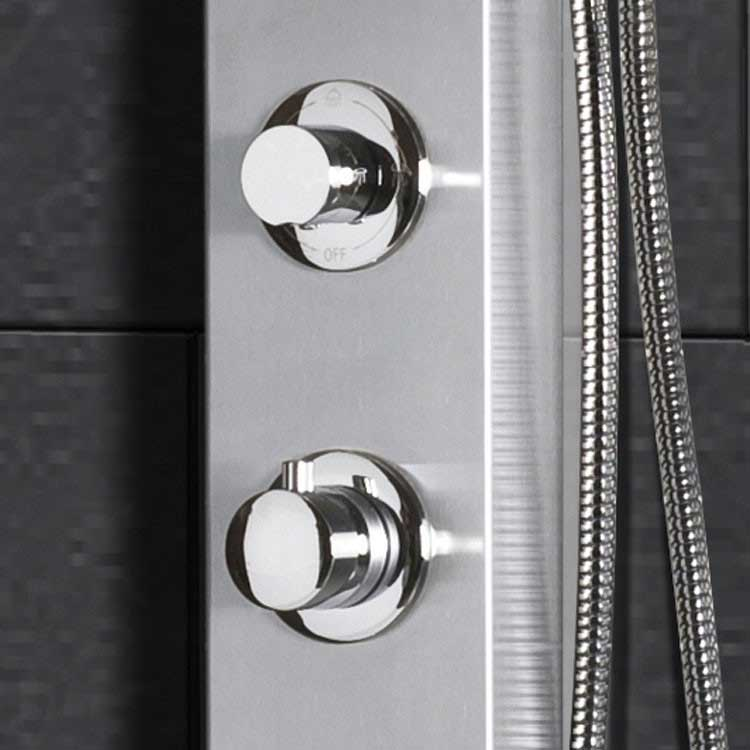 "Ariel Bath Stainless Steel 70"" Thermostatic Shower Panel 5"