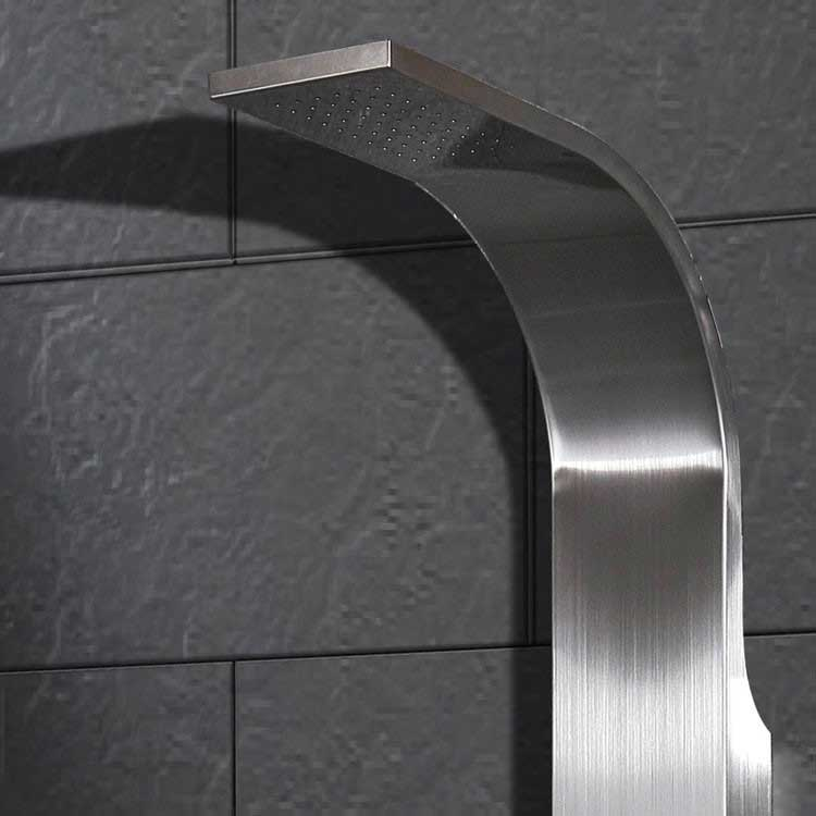 Ariel Bath Stainless Steel Thermostatic Shower Panel 2