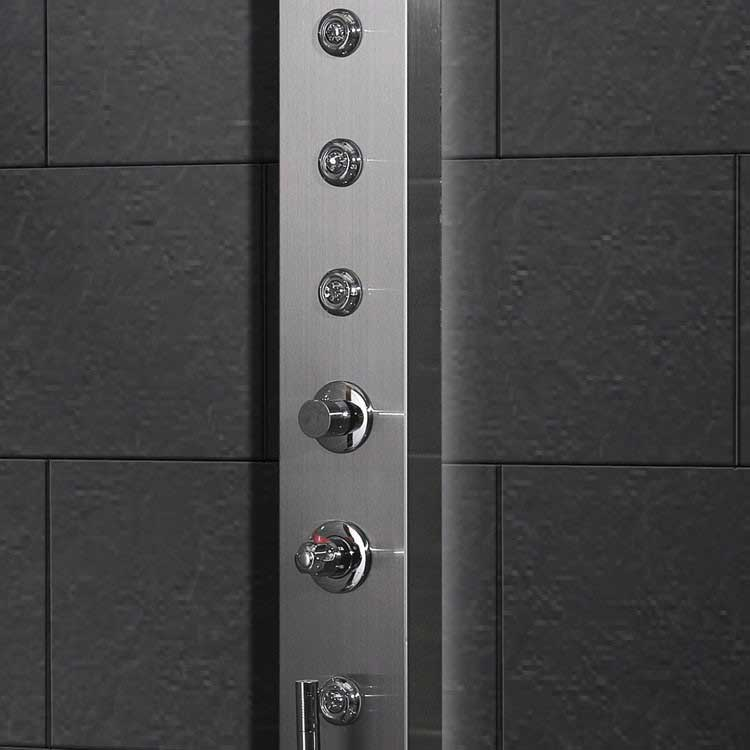 Ariel Bath Stainless Steel Thermostatic Shower Panel 6