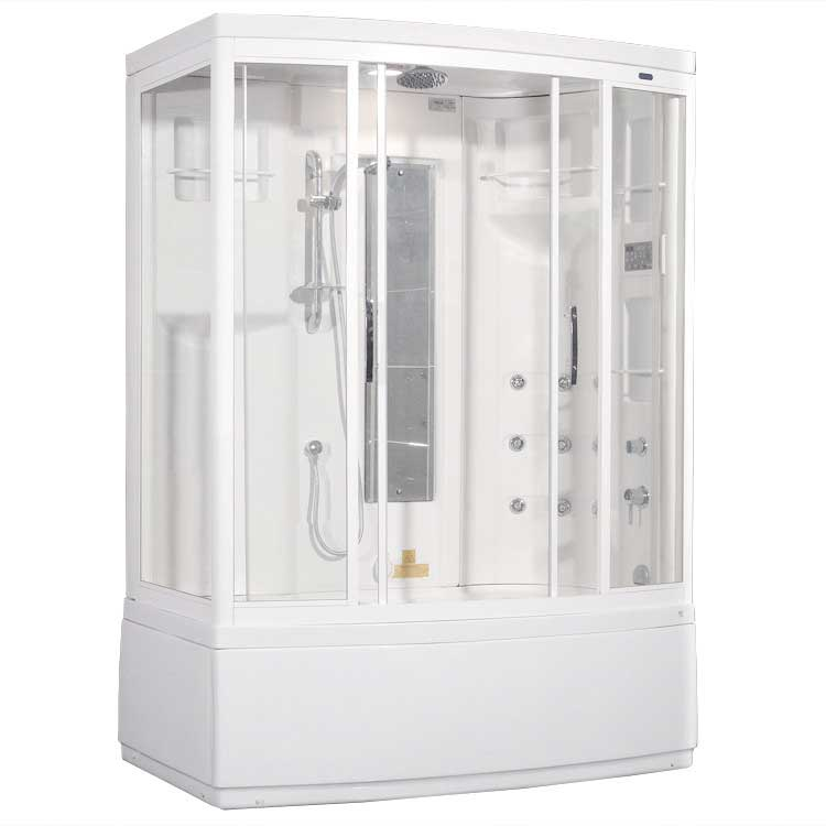 Ariel Bath Aromatherapy Sliding Door Steam Shower with Bath Tub with Right Side Configuration 2