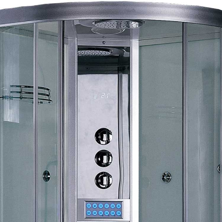 "Ariel Bath Platinum 35.5"" x 35.5"" x 87.5"" Neo-Angle Door Steam Shower 2"