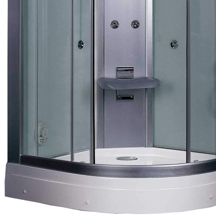 "Ariel Bath Platinum 35.5"" x 35.5"" x 87.5"" Neo-Angle Door Steam Shower 3"