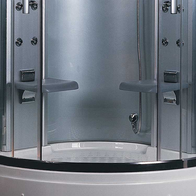 "Ariel Bath Platinum 47.2"" x 47.2"" x 87.5"" Neo-Angle Door Steam Shower 3"