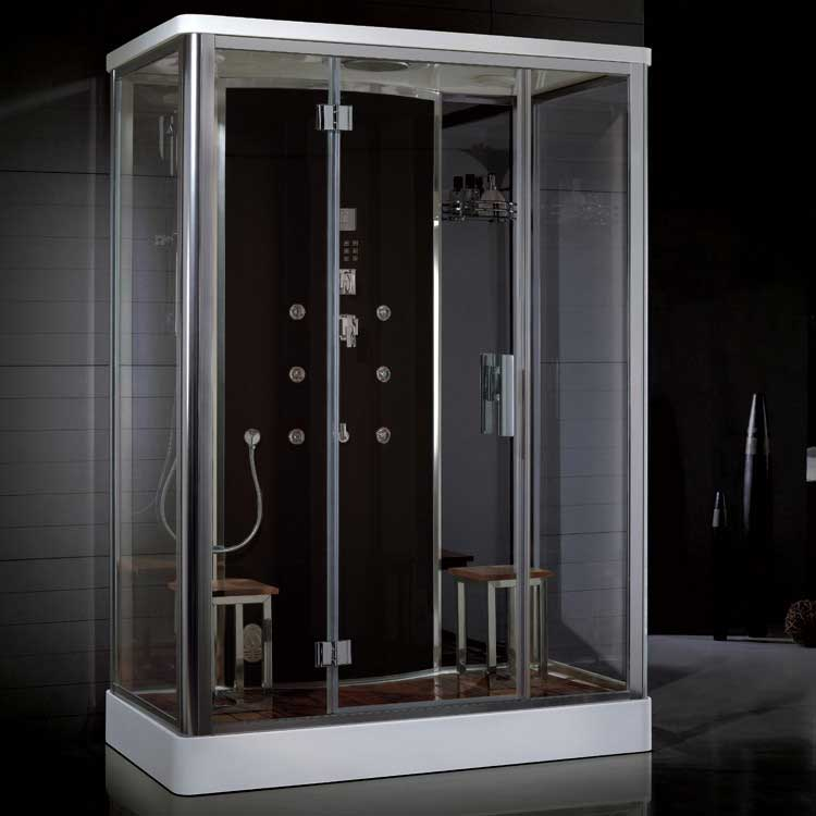 "Ariel Bath Platinum 59"" x 35.5"" x 87.4"" Neo-Angle Door Steam Shower"