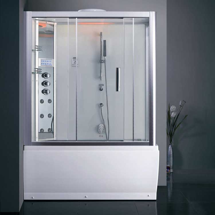 Ariel Bath Platinum Sliding Door Steam Shower with Bath Tub and Left-Hand Side Configuration