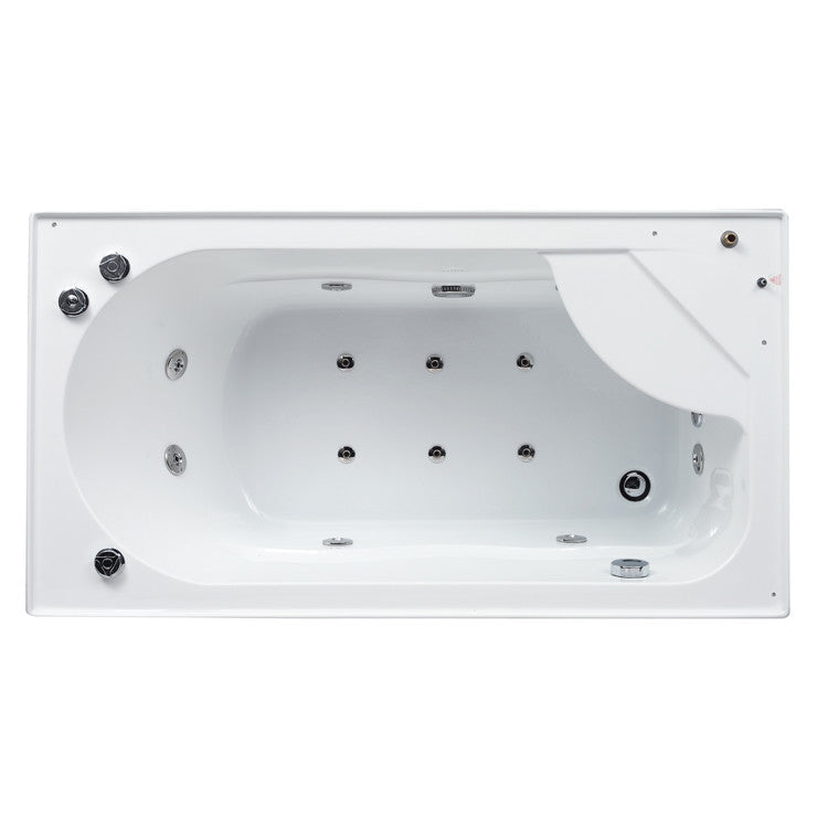 Ariel Bath Platinum Sliding Door Steam Shower with Bath Tub and Right-Hand Side Configuration 2