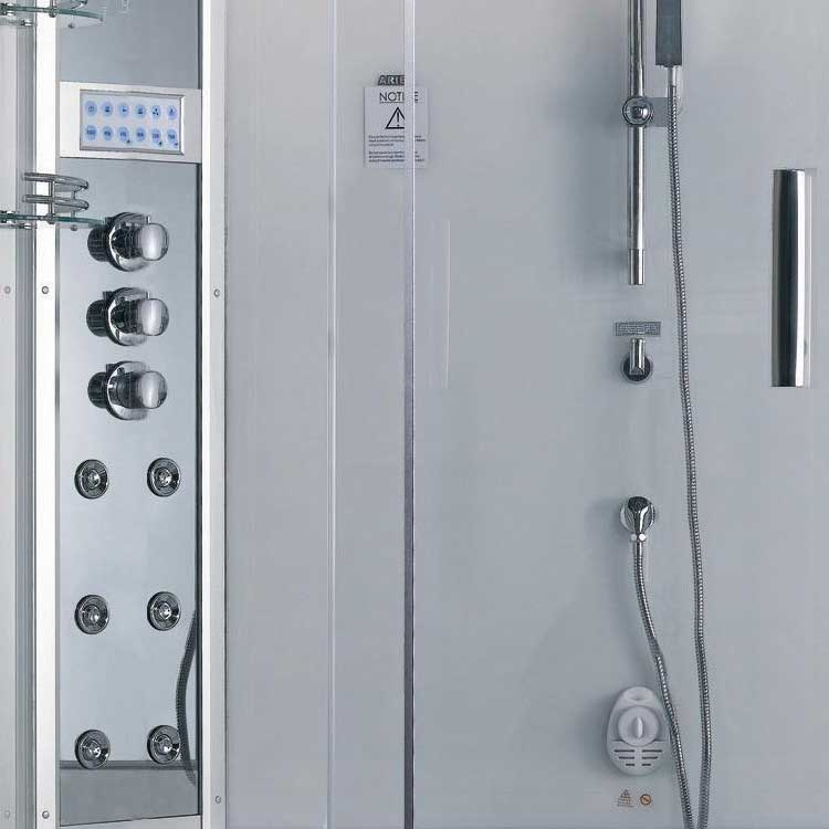 Ariel Bath Platinum Sliding Door Steam Shower with Bath Tub and Right-Hand Side Configuration 3